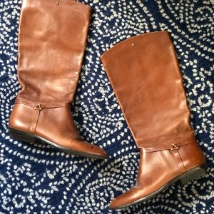 Etienne Aigner Brown Leather Riding Boots